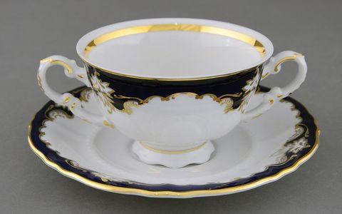 Чашка для супа с блюдцем 2 ручки 0,35 л Соната Leander