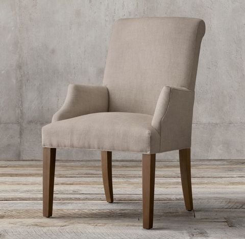 Hudson Roll-Back Fabric Armchair