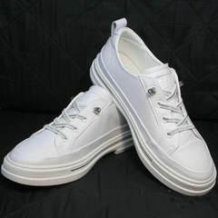 Кроссовки женские белые туфли на низком каблуке El Passo sy9002-2 Sport White.