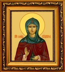 София (в миру Соломония) Суздальская Преподобная. Икона на холсте.