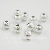 """Бусина металлическая """"Сахарный шарик"""" 4 мм (цвет - серебро), 10 штук"""