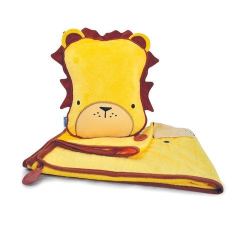 Дорожный набор Подушка с пледом Лев