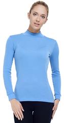 Терморубашка из шерсти мериноса Norveg City Style Blue женская