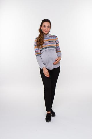 Водолазка для беременных 08105 серый