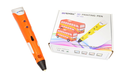 Набор 3D ручка Myriwell RP-100A версия 1 оригинал с пластиком, напальчники 2шт и Трафаретами