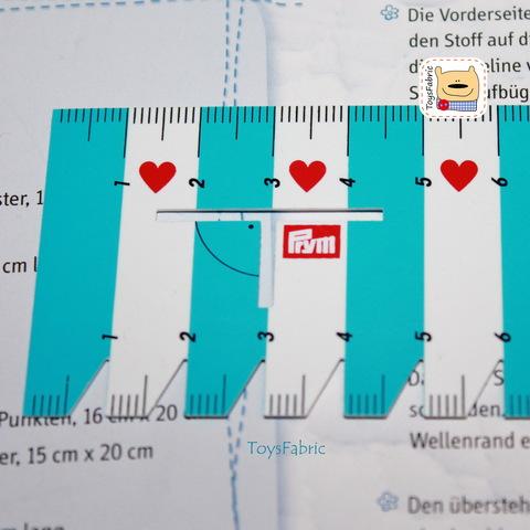 Линейка Prym Love для разметки и измерения 21см   (Т38)