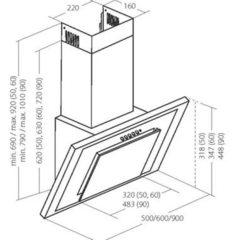 Вытяжка AKPO Nero wk-4 eco line 60 Белое стекло схема