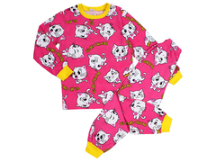 BK580K-11 пижама детская, малиновая
