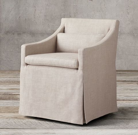 Low Belgian Slope Arm Slipcovered Armchair