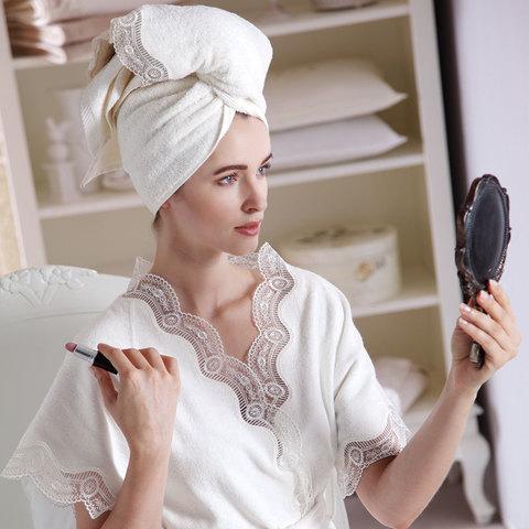 BAMBOO  махровый  женский халат и полотенце Tivolyo Home Турция