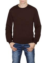 30570-8 футболка мужская дл. рукав, коричневая