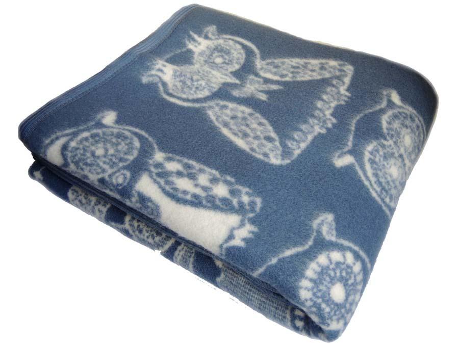 Шерстяные одеяла Одеяло Совы из новозеландской шерсти KLIPPAN SAULE Латвия sova02.jpg