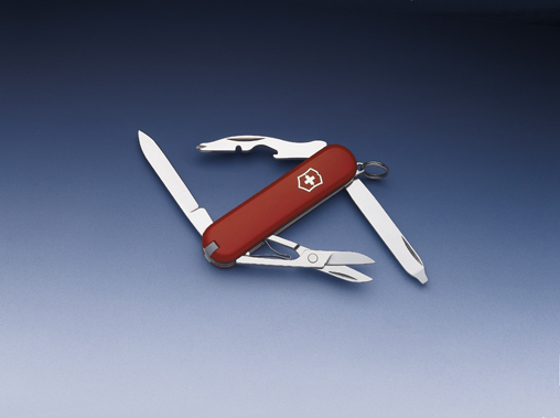 Нож-брелок Victorinox Classic Rambler, 58 мм, 10 функций, красный