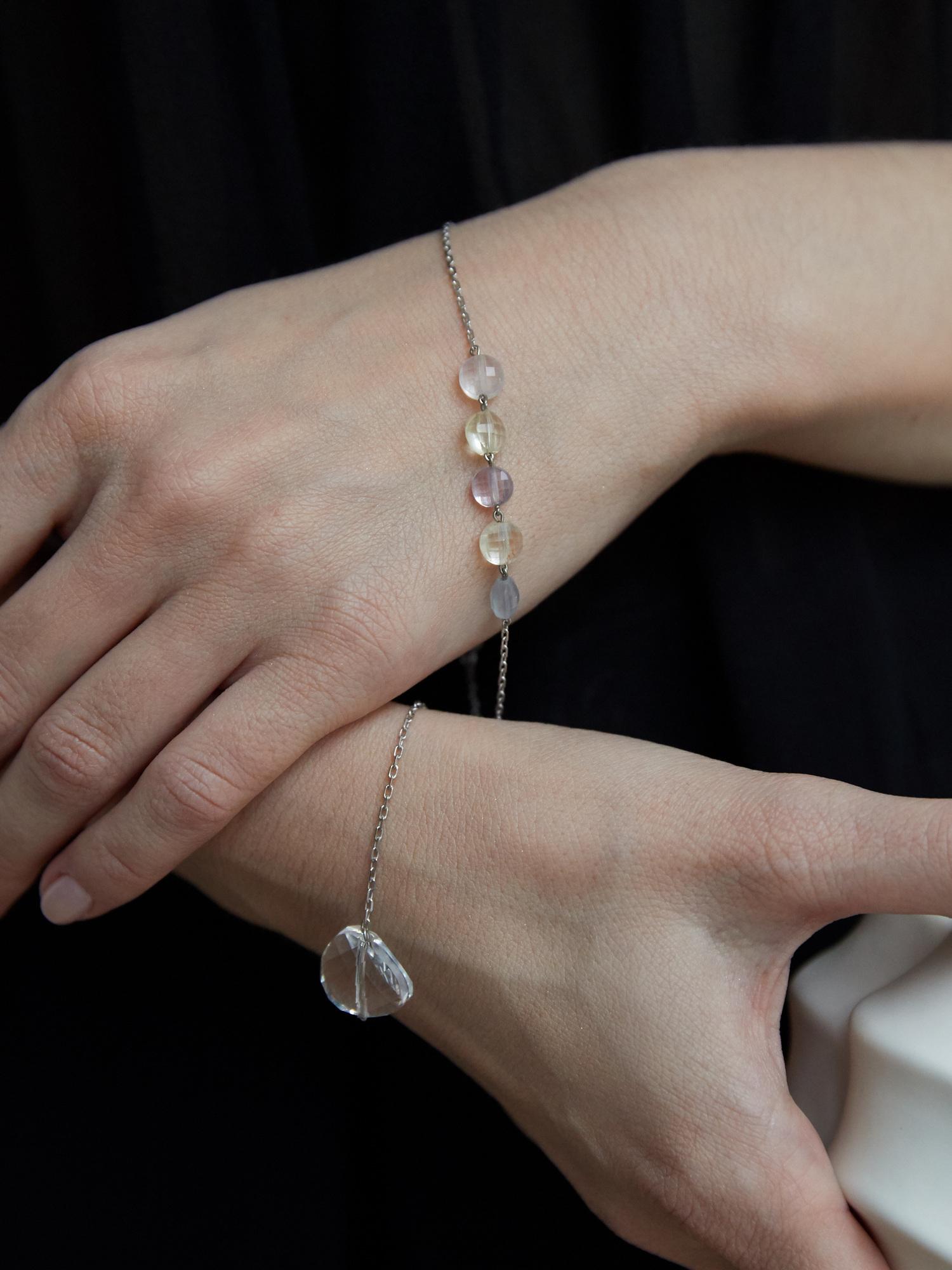 Серебряный браслет с кристаллом Swarovski