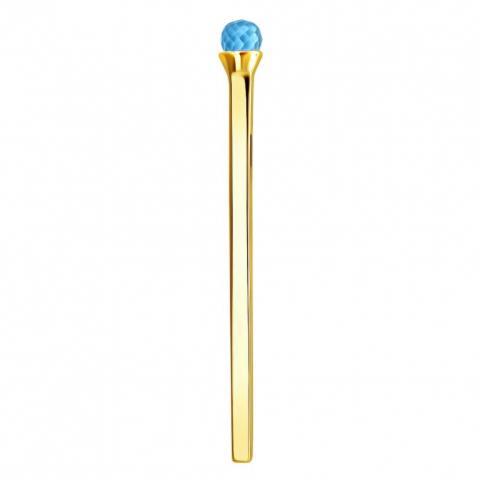Подвеска спичка с топазом из золота 585 пробы
