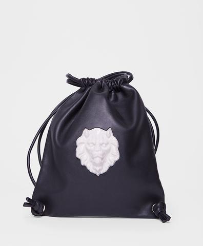 Рюкзак из кожи Lion Black