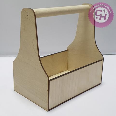 Ящик-кашпо с ручкой, 20 см × 12,5 см × 21 см, 1 шт.