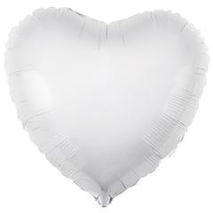 Ar (30''/76 см) Сердце, Белый, 1 шт