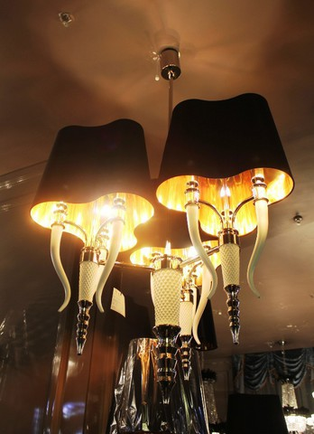 replica   Visionnaire Brunilde Chandelier black  9 lamps 2