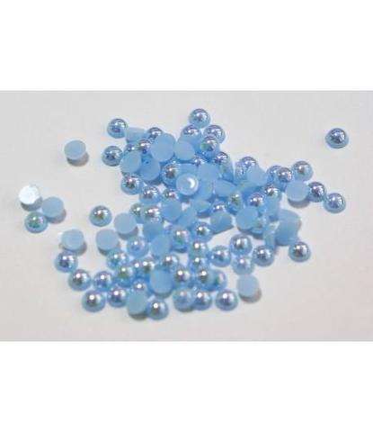 111 стразы круглые голубые 100 шт