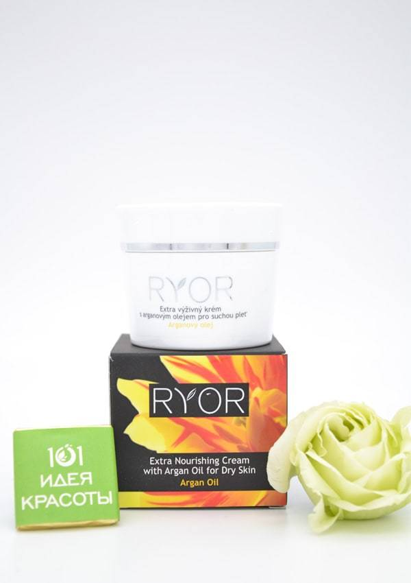 Ryor Экстрапитательный крем с аргановым маслом для сухой кожи, 50мл