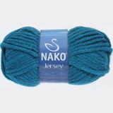 Пряжа Nako Jersey морская волна 1957