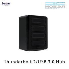 Хаб для картридеров Lexar Professional Workflow HR2 Thunderbolt 2 / USB 3.0 Reader Hub 4 отсека