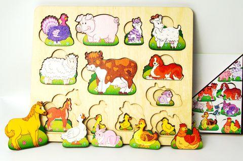 Развивающая доска Чей малыш? Домашние животные, Нескучные игры, арт. 8090