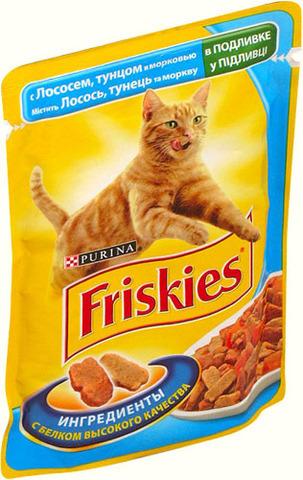 Friskies Кусочки В Подливке с уткой для кошек. 85 г