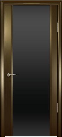 Дверь Океан Шторм-3, стекло тонированное, цвет венге, остекленная