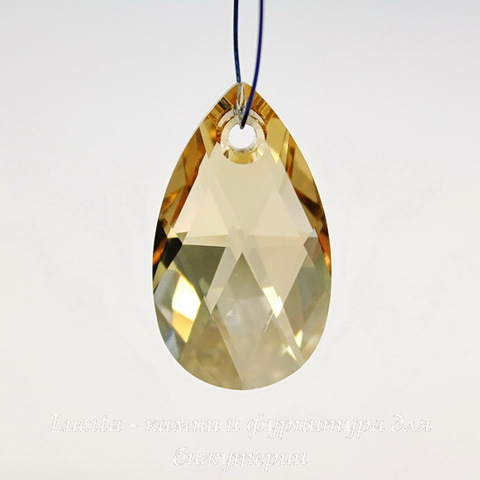 6106 Подвеска Сваровски Капля Crystal Golden Shadow (22 мм)