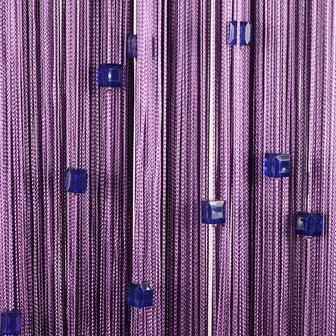 Шторы нити со стеклярусом (кубики) - Сливовые. Ш-300см., В-280см. Арт.18