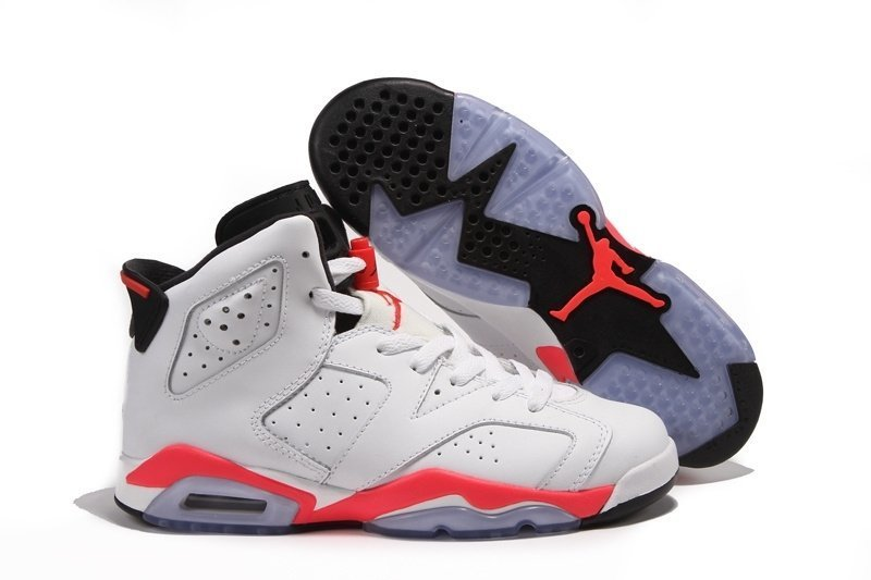 Nike Air Jordan 6 Retro (White/Infared-Black) (001)