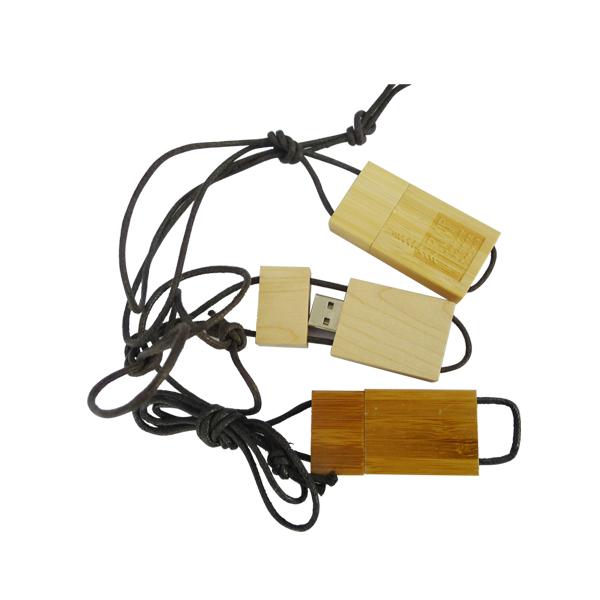 usb-флешка деревянная со шнурком оптом