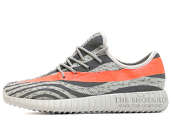 Кроссовки Мужские Adidas Originals Yeezy 350 Moonrocks Orange Stripe