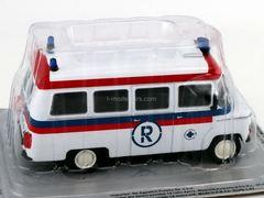 Nysa 522 Ambulans Ambulance white-red-blue 1:43 DeAgostini Kultowe Auta PRL-u