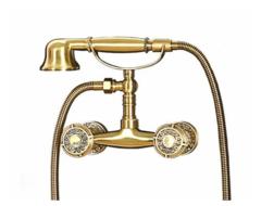 Комплект (смеситель + душ) для ванны, без излива Bronze de Luxe 10129