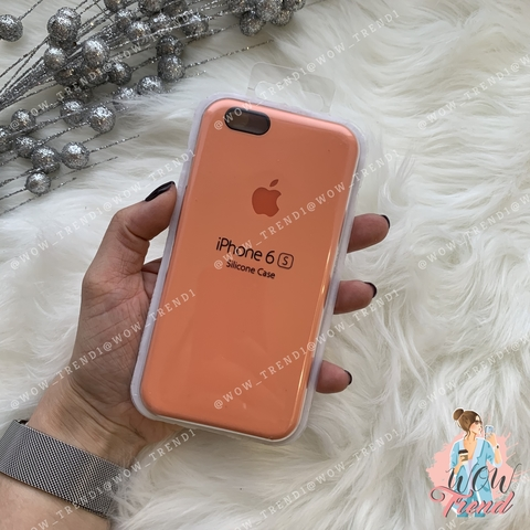 Чехол iPhone 6+/6s+ Silicone Case /peach/ персик 1:1