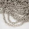 Цепь с насечками (цвет - античное серебро) 4,5х3 мм, примерно 10 м