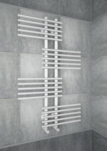 Europa White - белый дизайн-полотенцесушитель оригинальной формы.