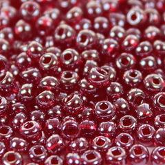 Бисер 8/0 Preciosa прозрачный, красный (кв.отв.)