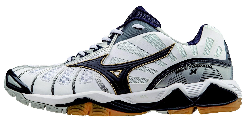 Мужские кроссовки для волейбола Mizuno Wave Tornado X (V1GA1612 14) белые фото