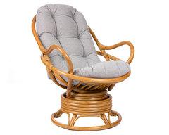 Кресло-качалка из ротанга Swivel Rocker с подушкой
