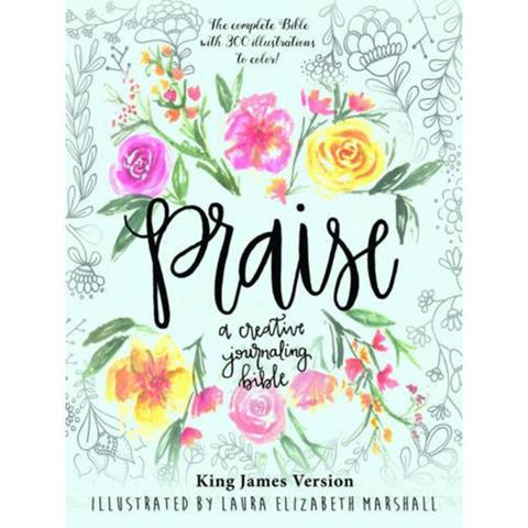 Творческая библия Praise Creative Journaling Bible By Laura Elizabeth Marshall
