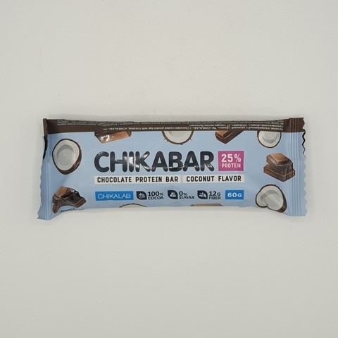 Батончик глазированный Кокос с шоколадной начинкой CHIKALAB, 60 гр