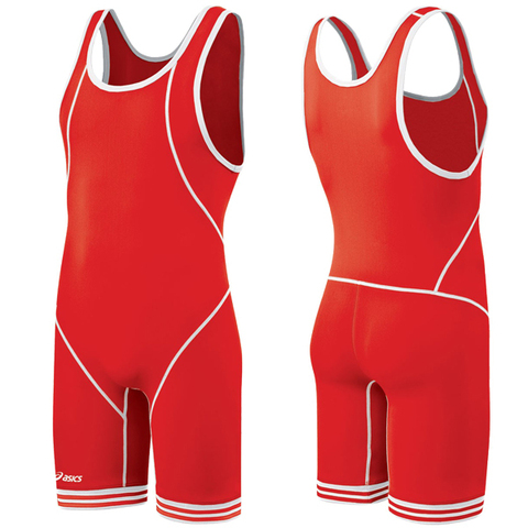 Борцовское трико Asics Wrestling Singlet (2301) красный