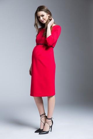 Платье 06178 красный