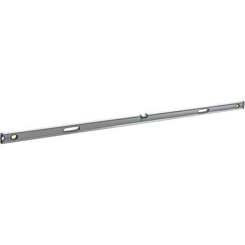 Уровень строительный КОБАЛЬТ Экстра, 2000 мм, профиль 30 x 65 мм, 3 глазка, 2 ручки, V-паз, точность 0,5 мм/м