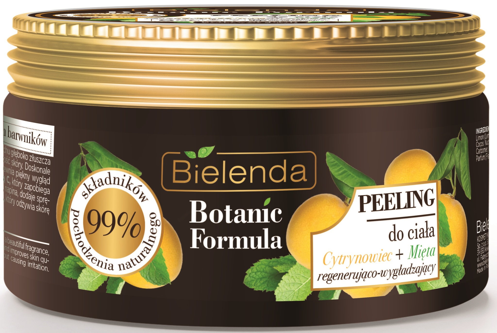 BOTANIC FORMULA Лимон + Мята, скраб для тела, 350 г