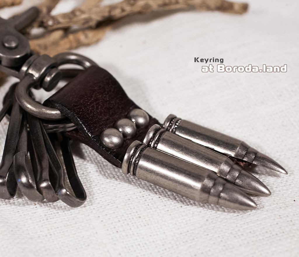 KR110-2 Брелок-ключница с «патронами» (коричневый) фото 02